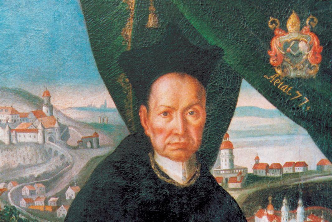 Image: Detail of a portrait of Abbot Knittel
