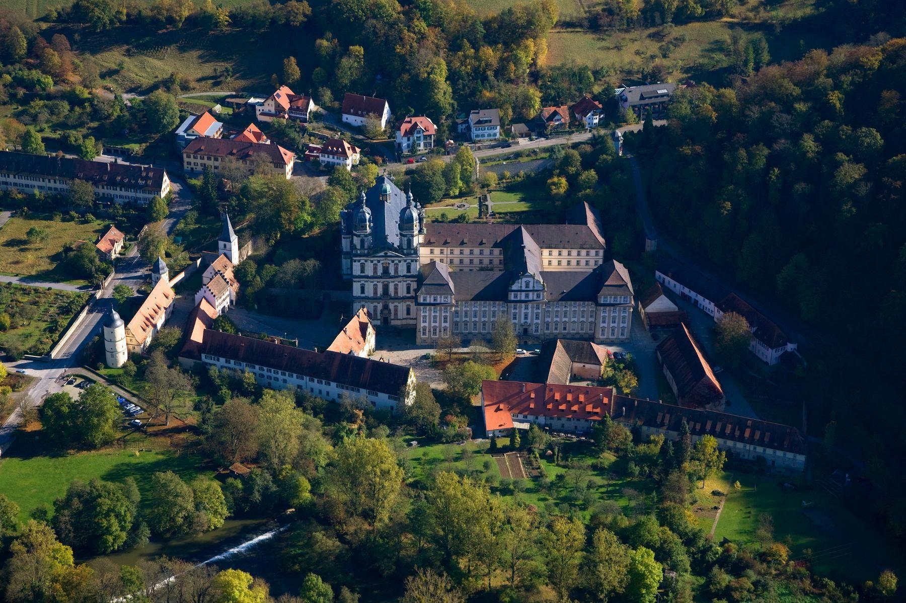 Kloster Schöntal, Luftaufnahme Klosterkomplex