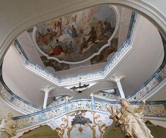 Treppenhaus in der Neuen Abtei von Kloster Schöntal