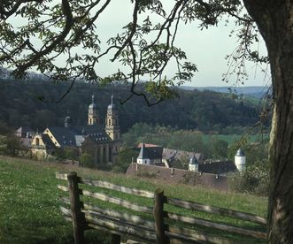 Image: View of the valley around Schöntal Monastery
