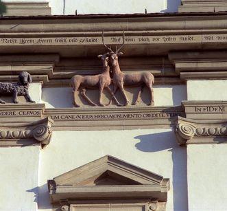 Tiergruppe am Nordturm der Klosterkirche Schöntal