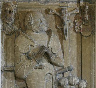 Grabmal von Götz von Berlichingen im Kloster Schöntal