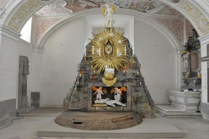 Image: The holy sepulcher on Good Friday, Schöntal Monastery