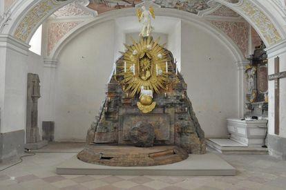 Das Heilige Grab am Karsamstag im Kloster Schöntal
