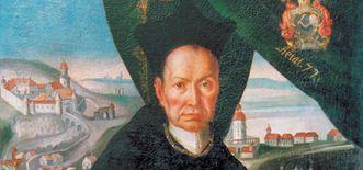 Porträt von Abt Knittel im Kloster Schöntal
