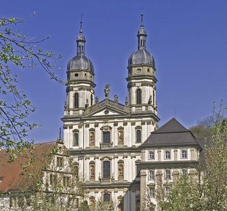 Image: Double-towered Baroque church, Schöntal Monastery