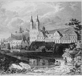 Image: Historic lithograph of Schöntal Monastery