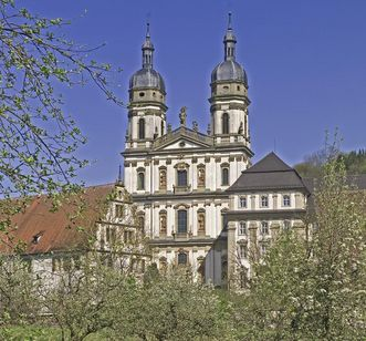 Image: Double-towered Baroque church, Schöntal Monastery