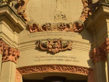 Kloster Schöntal, ein Spruch von Abt Knittel über einer Tür